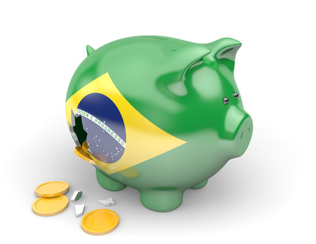 Brazil economy and finance concept for government spending and national debts Banco de Imagens - 36454270