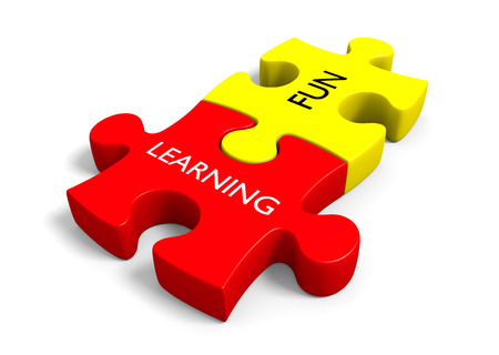 combining: Combining learning with fun for early childhood development and education Stock Photo