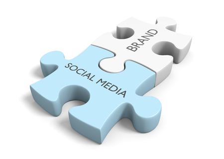 Markenbekanntheit durch erfolgreiche Social-Media-Netzwerkverbindungen Standard-Bild - 36454277