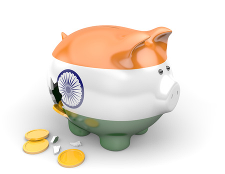 India economy and finance concept for unemployment, poverty, and national debts