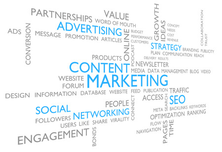 Content marketing through advertising, social networking, and SEO