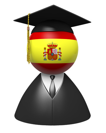 alumni: Spain college graduate concept for schools and academic education Stock Photo