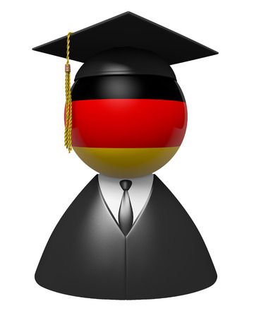 onderwijs: Duitsland afgestudeerd concept voor scholen en wetenschappelijk onderwijs Stockfoto
