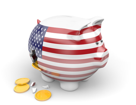 unemployment: United States economy and finance concept for unemployment and national debt crisis