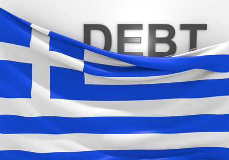 eurozone: Greece national debt and budget deficit financial crisis Stock Photo