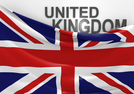 United Kingdom flag and country name