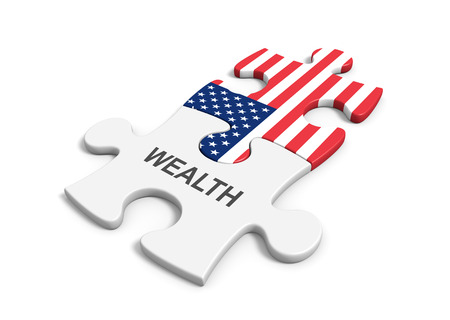 capitalism: United States wealth and capitalism concept