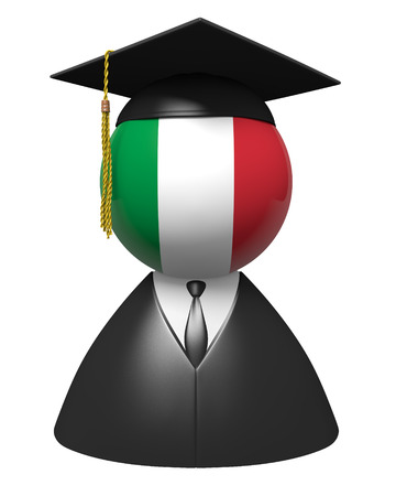 academic robe: Italy college graduate concept for schools and academic education