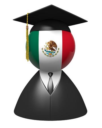onderwijs: Mexico gegradueerde concept voor scholen en wetenschappelijk onderwijs