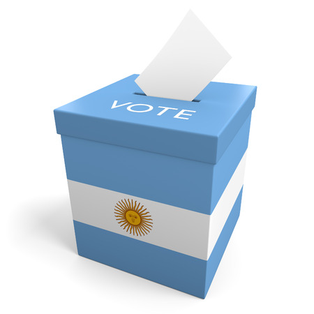 Argentina election ballot box for collecting votes photo
