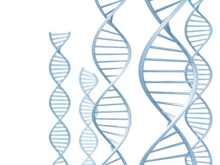 Genetisch onderzoek concept van de dubbele DNA-helix spiralen