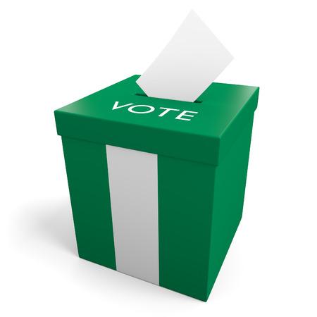 votes: Nigeria election ballot box for collecting votes