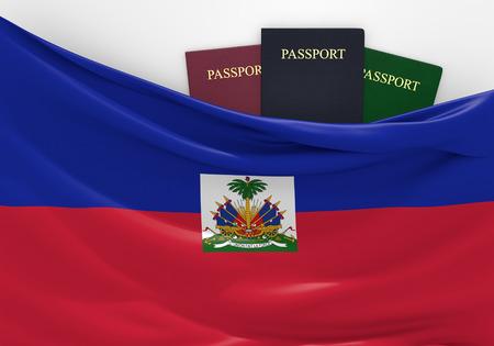 haiti: Travel and tourism in Haiti, with assorted passports