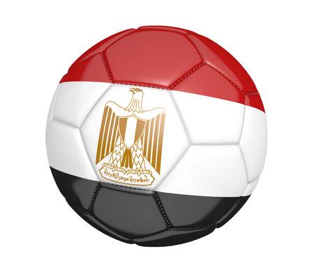 bandera de egipto: El balón de fútbol o de fútbol, ??con la bandera del país de Egipto