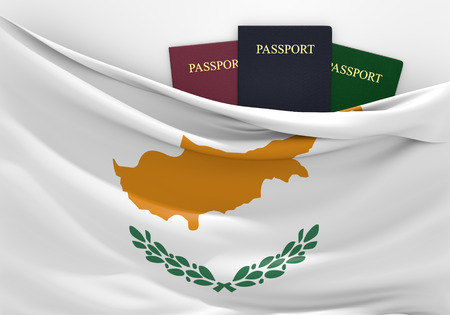 Travel and tourism in Cyprus, with assorted passports Фото со стока - 39321441