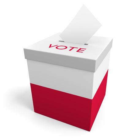 votes: Poland election ballot box for collecting votes Stock Photo
