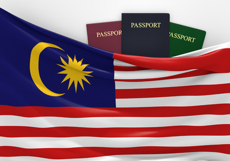 overseas visa: Travel and tourism in Malaysia, with assorted passports