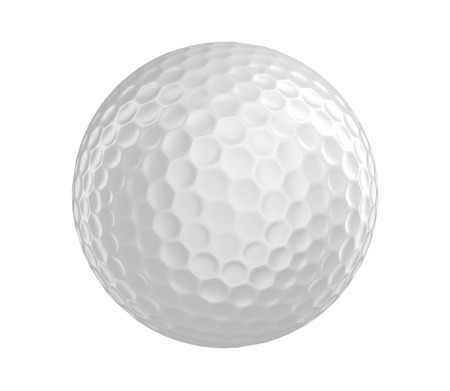 Golf ball 3D render isolated on a white background