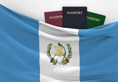 foreign nation: Travel and tourism in Guatemala, with assorted passports