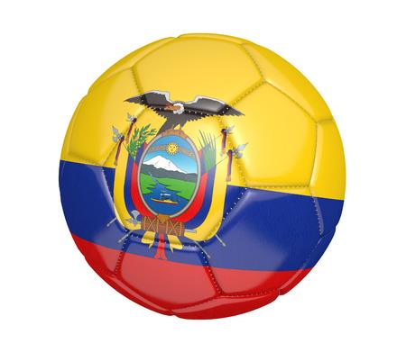 ecuador: Soccer ball or football with the country flag of Ecuador