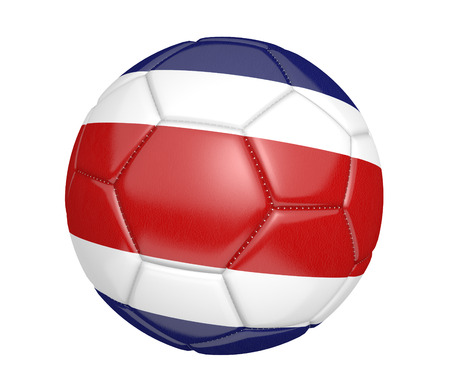 costa rica flag: Soccer ball or football with the country flag of Costa Rica