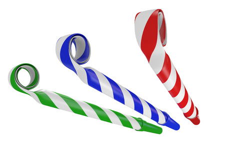 3D noisemaker papier hoorns voor verjaardagen en feesten