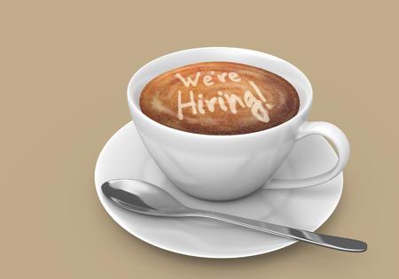 採用されているコーヒー カップにカフェラテ アート メッセージ