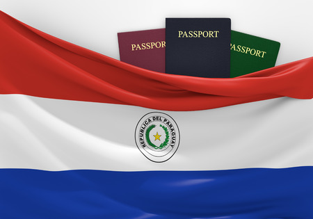 foreign nation: Travel and tourism in Paraguay with assorted passports
