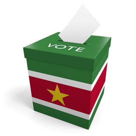 suriname: Suriname election ballot box for collecting votes