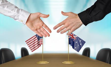agreeing: United States and Australia diplomats agreeing on a deal