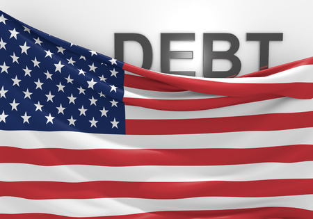 Déficit de la deuda y el presupuesto nacional crisis financiera de Estados Unidos Foto de archivo - 40042419