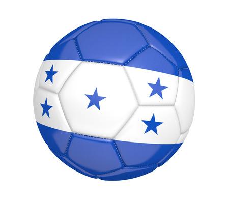 kickball: Soccer ball or football with the country flag of Honduras