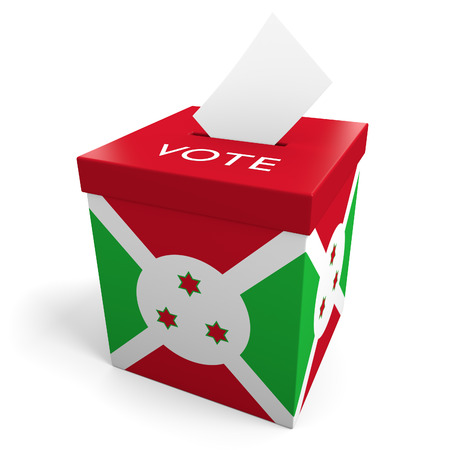 elect: Burundi election ballot box for collecting votes Stock Photo