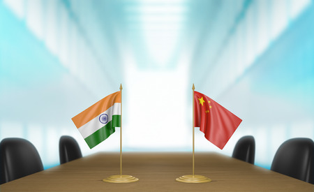 union flag: India and China economic trade deal talks