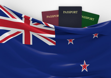 overseas visa: Travel and tourism in New Zealand with assorted passports