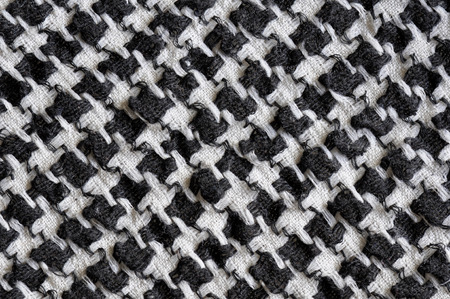 shemagh: Arabic black and white cloth fabric pattern