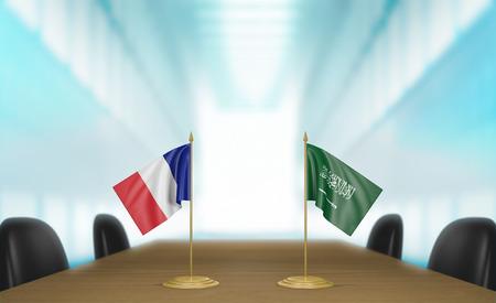 conversa: Francia y Arabia Saudita relaciones y conversaciones acuerdo comercial
