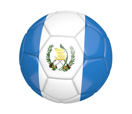 kickball: Soccer ball or football with the country flag of Guatemala