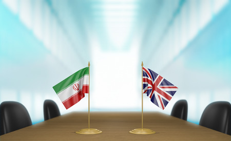 talks: Iran and United Kingdom relations and trade deal talks Stock Photo