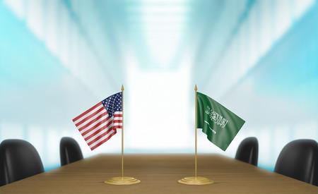 conversaciones: Estados Unidos y Arabia Saudita relaciones y conversaciones acuerdo comercial
