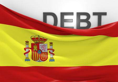 deficit: Spain national debt and budget deficit financial crisis
