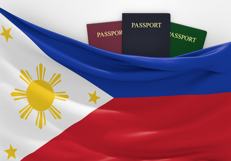 overseas visa: Travel and tourism in Philippines with assorted passports