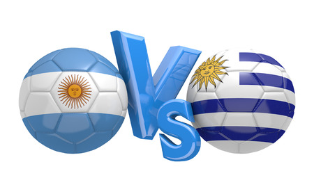 football teams: Copa America football competition national teams Argentina vs Uruguay