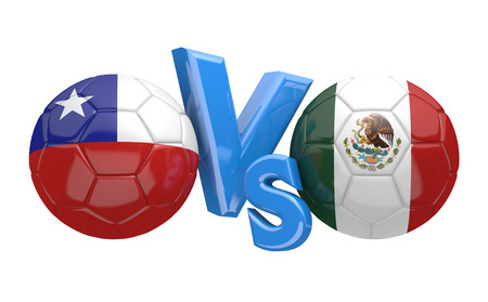 football teams: Copa America football competition national teams Chile vs Mexico