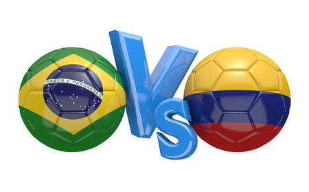 vs: Copa America football competition national teams Brazil vs Colombia
