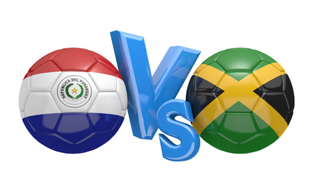 football teams: Copa America football competition national teams Paraguay vs Jamaica