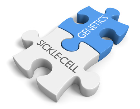 Link between genetics and the disorder sicklecell disease 스톡 콘텐츠