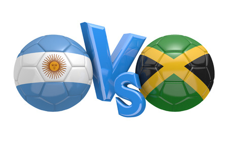 kickball: Football competition national teams Argentina vs Jamaica