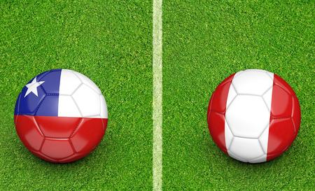kickball: 2015 soccer tournament teams Chile vs Peru