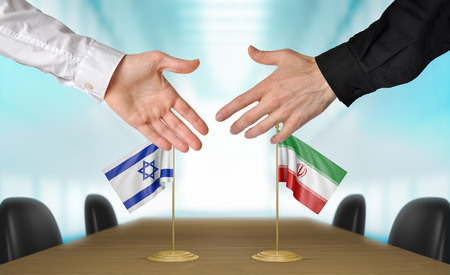 diplomats: Israel and Iran diplomats agreeing on a deal Stock Photo